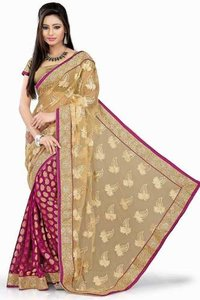 Multi Color Chiffon Saree With Blouse
