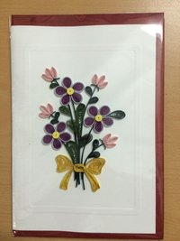 Flower Handmade Quilling Card
