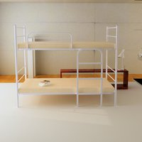 Metal Bunk Bed With Air Flow Mattresses