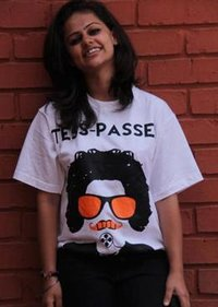 Girl Printed White T-Shirt