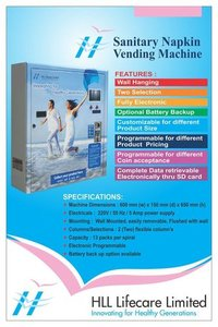 HLL Sanitary Napkin Vending Machine