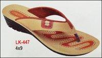 Designer Beige Tan Ladies Chappal