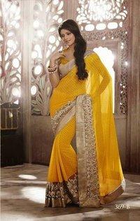 Ladies Yellow Color Saree