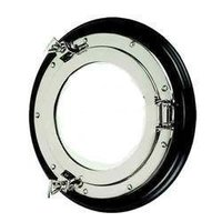Nickel Plated Porthole Mirror