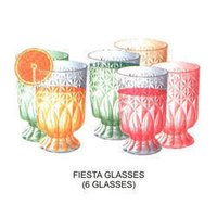 Plastic Lemon Glass Set