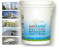 High Albedo Heat Reflective Paint Coating