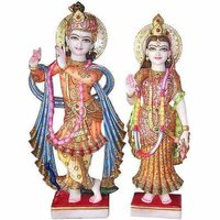 Carved Radha Krishna Statue