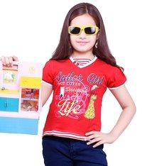 HotCutes Red Girls Premium Top