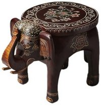 Pranted Wooden Elephant Tables