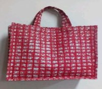 Jute Shopping Square Bag With Print