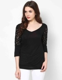 V- Neck Lace Top