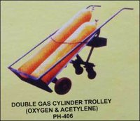 Durable Double Gas Cylinder Trolley