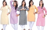 Cotton Linen Feel Kurti