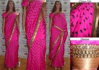 Raw Silk Saree With Stone Work