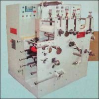 Single Colour Flexo Rotary Lable Printing Press with 3 Die Cutting Machine (Jandu CD-1013)