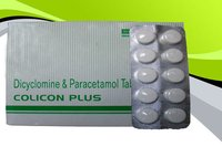 Colicon Plus Tablets (Dicylomine Hydrochloride 20Mg + Paracetamol 500Mg)