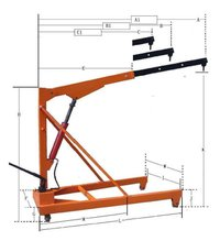 Manual Hydraulic Floor Cranes