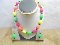 Handmade Fiber Beaded Necklace Set
