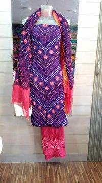 Bandhani Cotton Satin Suit
