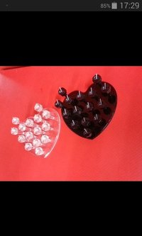 Heart Shaped Acrylic Finger Ring Display Stands