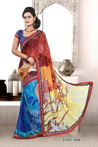Ethnic Synthetic Saree