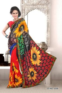Traditional Designer Synthetic Sarees