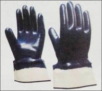 Nitrile Full Coated Gloves With Safety Cuff