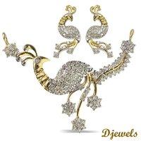 Celine Diamond Peacock Design Mangalsutra Set