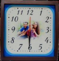 Wooden Clock Photo Frame
