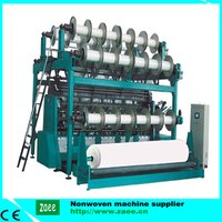 double needle-bed Plush warp knitting machine