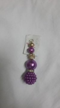Purple Pearl Beaded Tassels (KL-022)