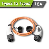 Type 2 (IEC 62196-2) Male to Female Connector (Charging Cable) Single Phase 16A for Electric Vehicle