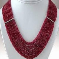 Ruby Beads Necklaces