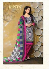 Ladies Fancy Unstitched Cotton Salwar Suit