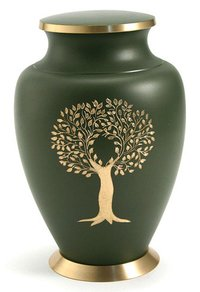 Aria Tree of Life Solid Brass Urns