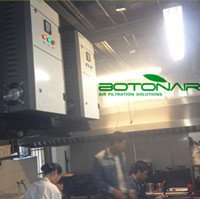 Fume Gas And Odor Removal Air Cleaner For Restaurant Commercial Kitchen