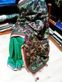 Reverse Kantha Silk Saree