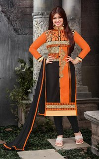 Orange And Black Suit