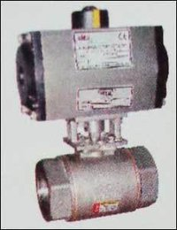 High Pressure Ball Valve With Pneumatic Rotary Actuator