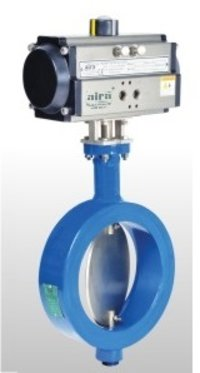 Damper Valve With Pneumatic Rotary Actuator
