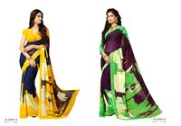 Heavy Georgette Saree With Blouse