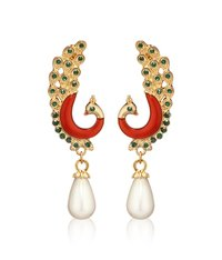 Peacock Shaped Artificial Earring Set