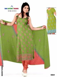 Pure Chanderi Heavy Embroidery Long Ladies Salwar Kameez Suits
