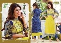 Designer Cotton Ladies Salwar Suits