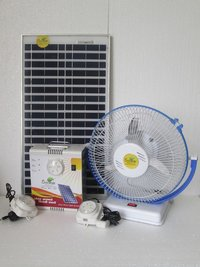 Solar Home Light With Fan