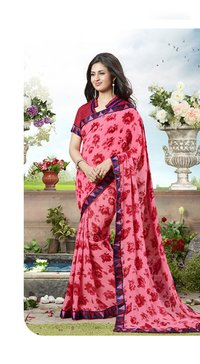 Gajari Color Printed Saree