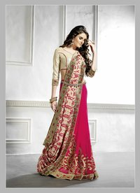 Rani Color Printed Saree