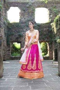 Attractive Beige And Multi Color Printed Saree