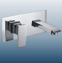 Single Lever Wall Mounted Basin Mixer With Spout