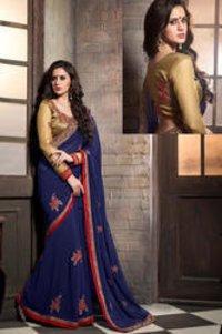 Trendy Heavy Blouse Saree